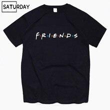Men's Tv Friends Harajuku Funny Cotton T Shirts Unisex Summer Workout Tshirts Women Hip Hop Tops Boyfriend Gift