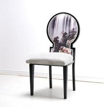 Dining chair hotel hotpot restaurant box coffee classic style iron chair.