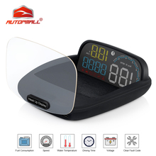 New Car HUD Head Up Display OBD 2 II On-board Auto Car Computer C600 Digital Speedometer OBD2 Projector Driving Fuel Consumption car hud 5 8 tft obdii head up display digital car speedometer on board computer obd2 windshield projector p12 p10 a100 a8 c500