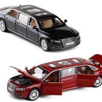 1:32 Excellent Quality Diecast Alloy Scale Car Model Toys for Children Vehicle A8L Extended No Box V072