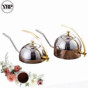 YRP 600ml/1200ml Stainless Steel Coffee Drip Pot Long Spout Coffee Kettle Pour Over Teapot Hand Punch Cafe Pot For Kitchen Tools