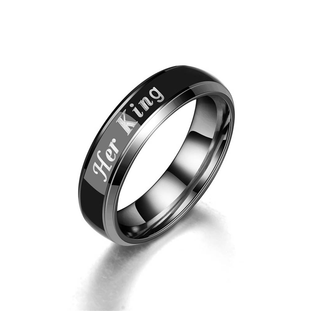 Stainless Steel Couple Lover Letters Finger Rings Men Women Band Ring Jewelry CX17