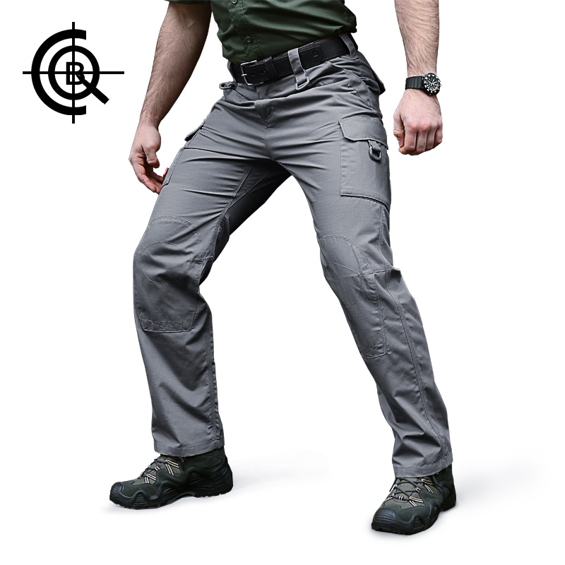 CQB Outdoor Camping Tactical Pants Men Sport Training Trousers Wear-Resistant Camping Climbing Pants Soldier Overalls KZ0045