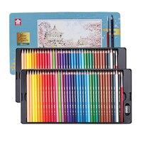 Sakura Watercolor Pencils Oil Colored Pencils 72 Colors Professional Drawing Pencils Rainbow Colors Tin Box Set for Artist|  -