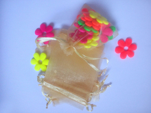 1000pcs gold organza gift bags 10x15cm party bags for women event wed Drawstring bag Jewelry Display