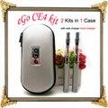 Ego ce4 Kits duplas embalado em Zíper Estojo Cigarro Eletrônico com 650 mAh 900 mAh 1100 mAh ego bateria vs atomizador VAPE