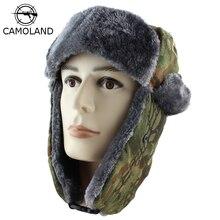 2018 nuevos hombres bombardero sombreros de invierno Trooper Trapper  sombrero Ushanka ruso sombrero con piel sintética al aire l. 3ec60da3c50