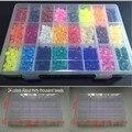 Perler beads 5,5mm caja de almacenamiento de muchos colores juego de cajas educativos niños diy juguetes fusible cuentas plussize pegboard hojas de papel de planchar