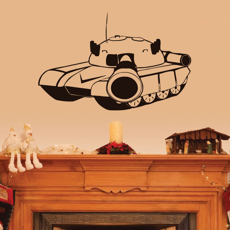 Cartoon Military Tank Wall Decals For Kids Bedroom Wall Decor Vinyl ...