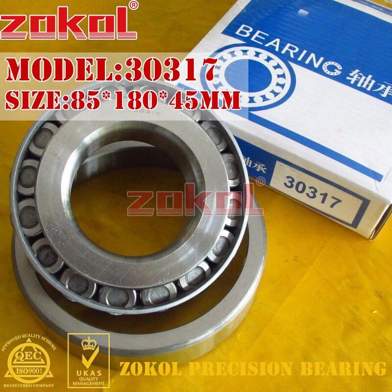 ZOKOL bearing 30317 7317E Tapered Roller Bearing 85*180*45mm цены онлайн