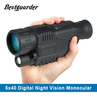 5MP 5x40 Digital Night Vision Monocular 200m Range Takes Photos Video 1 44 TFT LCD IR