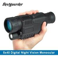 5MP 5x40 Digital Night Vision Monocular 200m Range Takes Photos Video 1 44 TFT LCD IR