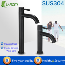 304 Stainless Steel Deck Mounted Sink Basin faucet Rust And Corrosion Resistance Bathroom Kitchen Black Single Cold Water Faucet цена в Москве и Питере