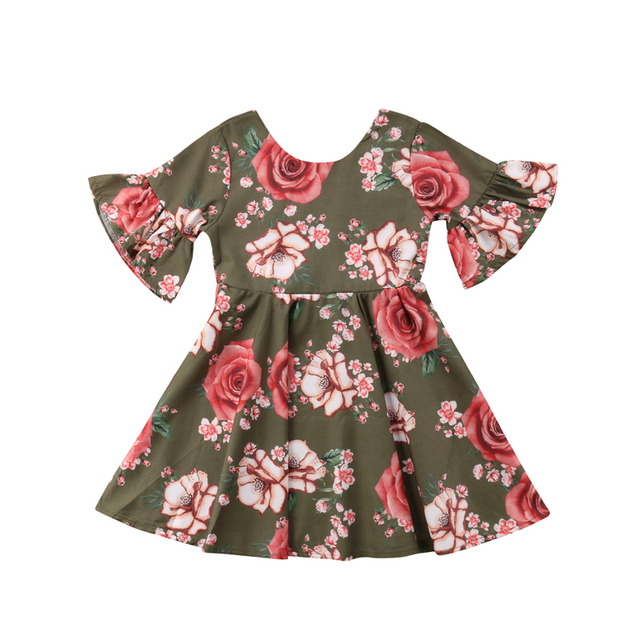 1873e4fb49fe FOCUSNORM New Fashion Toddler Baby Girl Kids Backless Dress Outfit ...