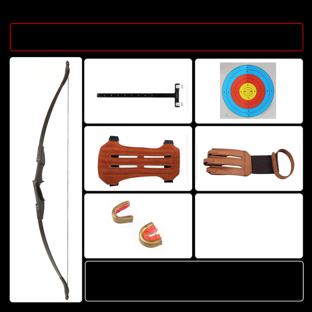 Target Archery Recurve Bow Straight Longbow left and right hand bow for Children Youth