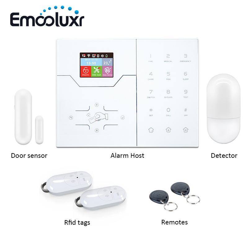 2018 WiFi/GSM Smart Home Alarm System HA-VGW Color LCD Display APP Remote Control RFID Arm Disarm Home Burglar Alarm Pet Immune smartyiba 3g wifi alarm system app remote control burglar arm disarm ip camera solar powered siren pet immune pir alarm kits