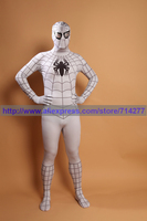 Superhero Black And White Cool Spiderman Costume Spiderman Lycra Spandex Full Bodysuit Adult Spider Man Cosplay