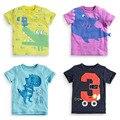 Marca 100% Algodón Nuevo 2017 Verano de Los Bebés Ropa Del Niño niños Embroma la Ropa Camisetas T-Shirt camiseta de Manga Corta Niños blusa
