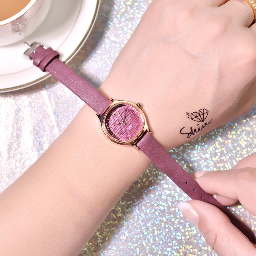 Women Casual Quartz Watch Leather Band Analog Wrist Fashion Zegarki Damskie 2019 New Hot Sale Watches for Girl