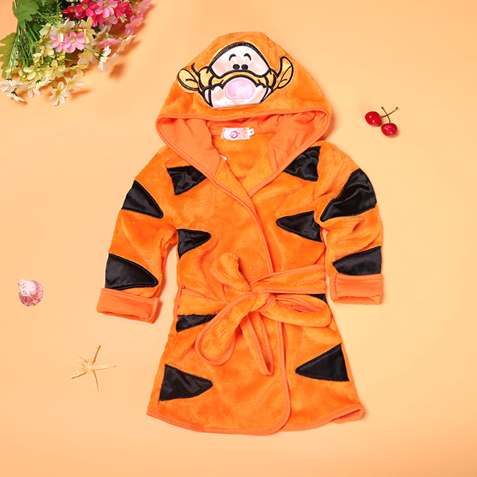 children Plush Bathrobe Kid Cartoon Indoor Clothes 6 Colors children Wear Nightgown Warm Home Casual Cartoon Cute