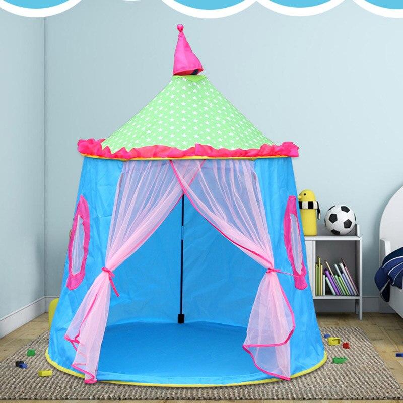 Enfants enfants tente pliante jouet Portable intérieur extérieur princesse jouer maison château YH-17