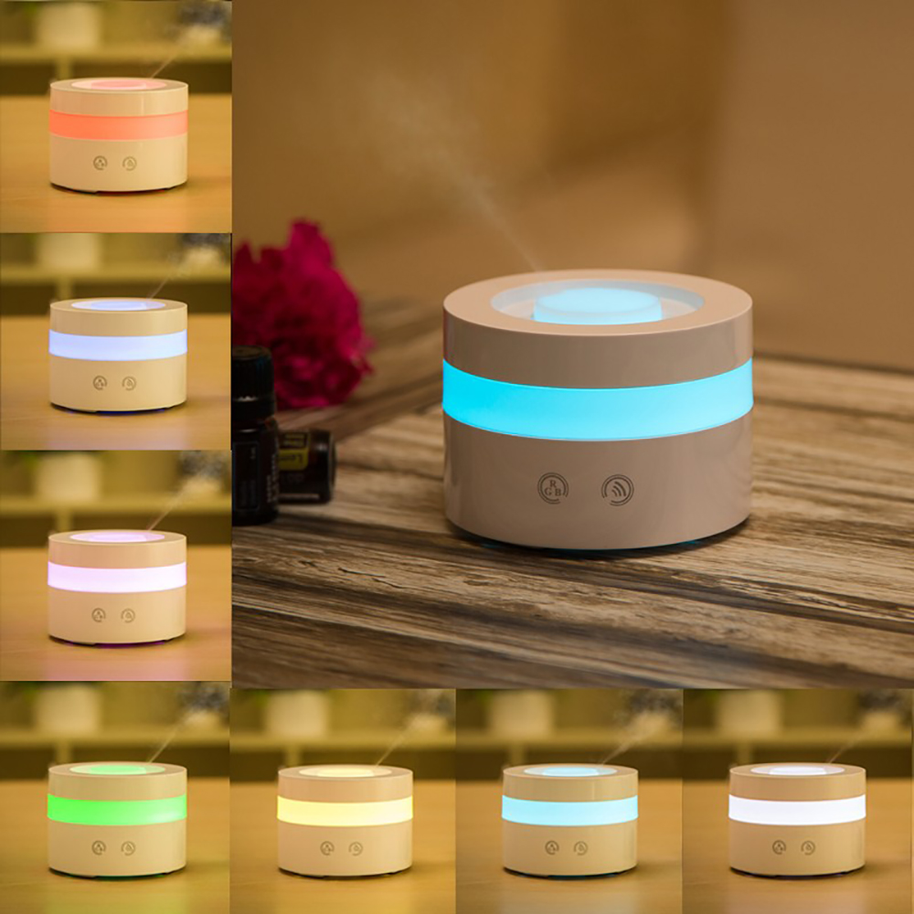 где купить 7 Colors LED Light Aromatherapy Air Humidifier Aroma Diffuser Mini Touch Button Essential Oil Diffuser Home Office Mist Maker дешево