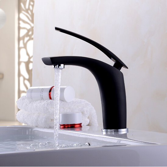 New arrival chrome and black finished bathroom single lever hot and cold sink faucet basin tap mixer new arrival chrome and black finished bathroom single lever hot and cold sink faucet basin tap mixer