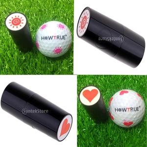 Image 5 - かわいいハートと太陽の形状デザインゴルフボールスタンパースタンプシール印象マーカー印刷ギフト賞ゴルファーのための学習者作るサイン