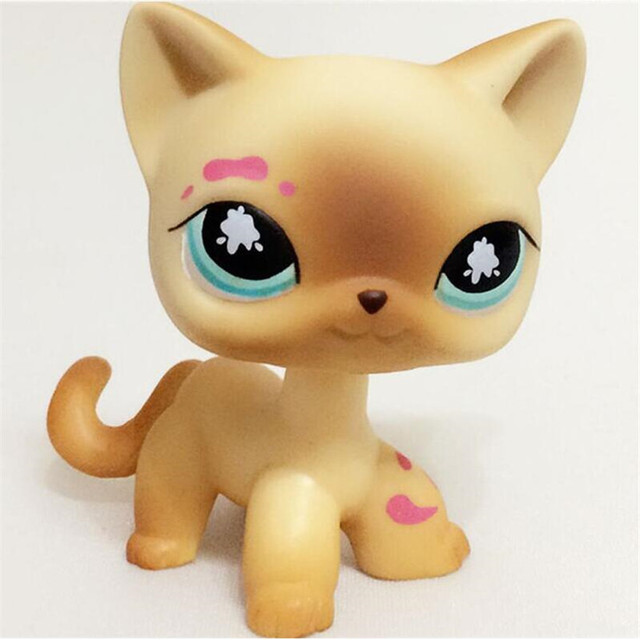 Hot Sell Cute Anime Figure Pet Shop Lps Short Hair Cat Kitty And Dog