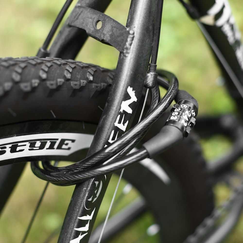 رمز كابل قفل الدراجات 4-الرقمية دراجة الجمع بين الدراجة تشيان قفل 8*1200 ملليمتر البلاستيك دراجة بسبائك مكافحة سرقة قفل