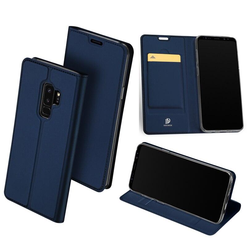 D'origine DUX DUCIS Étui En Cuir Pour Samsung Galaxy S9/S9 Plus couverture De Luxe Flip Stand Couverture de Portefeuille Pour Samsung Galaxy S9 Cas