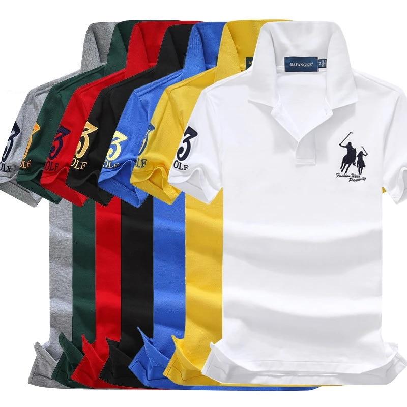 Polo Brand Clothing Male Fashion Casual Men Polo Shirts Solid Casual Polo Tee Shirt Tops High Quality Slim Fit Shirt Men 908