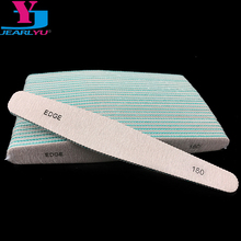 50 X Acrylic Nail File 180/180 Lima Buffer Sanding Sandpaper White and Grey Drop Files Lime Ongles Wholesale Nails Products