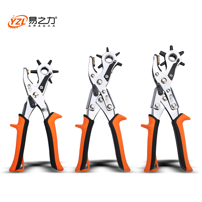 Heavy Duty Leather Belt Hole Punch Plier Eyelet Puncher Revolve Sewing  Machine Bag Setter Tool Watchband Household Strap leather