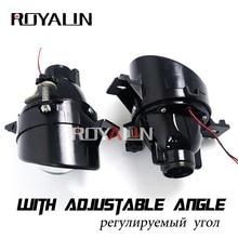 ROYALIN для Nissan Регулируемый H11 Противотуманные фары объектив биксенон D2S лампы проектора HID металлический линзы Авто D2H лампы модернизации