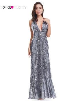 Когда-либо довольно 2017, Новая мода вечерние платья Искра длинные глубокий v-образным вырезом талии сетки CROSS BACK блестящими пайетками вечерне...
