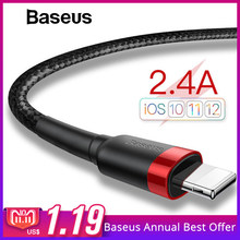 Baseus Classic USB Cable for iPhone xs max Charger USB Data Cable for iPhone X 8 6 6s 2.4A USB Charging Cable Phone Cord Adapter(China)
