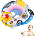Inflatable Pool Swim Boat Infant Chair Swimming Aid Trainer With Wheel Horn