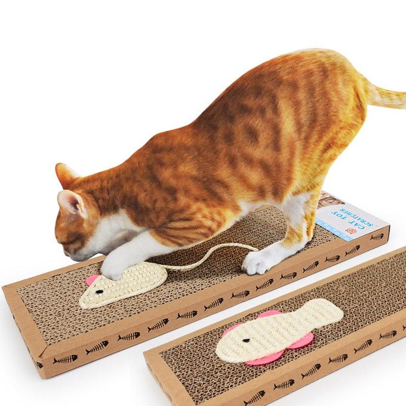Cat Kitten Scratch Board Pad Cat Scratching Claw Post Cute Sisal Hemp Scratching Post Corrugated Paper Pl0058