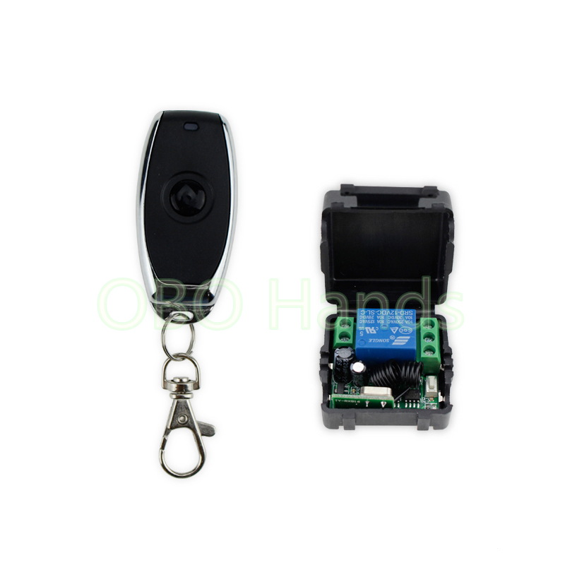Free Shipping DC12V 433MHz Metal Wireless Remote Control Switch For Door Lock Access Control Remote Exit Button Of Door Key-JS31