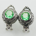 Peridot 925 Sterling Silver Earrings TE512