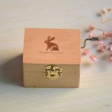Girls Birthday Gift Animals Wooden Music Box Sky City Chinchillas Hand Rocking Music Box the new wooden hand bell music hayao miyazaki totoro music box music box birthday gift resin ornaments