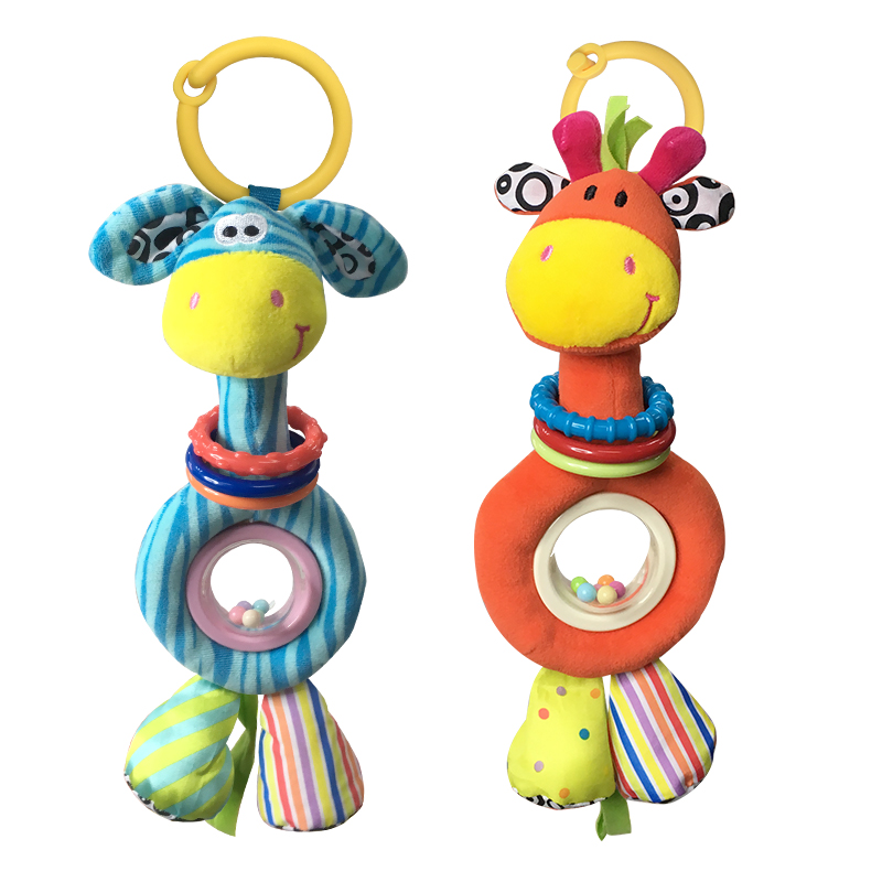 0-12 месяцев детская игрушка плюша наполнения автомобиля висит кровать висит погремушки мягкие, чтобы успокоить животных куклы
