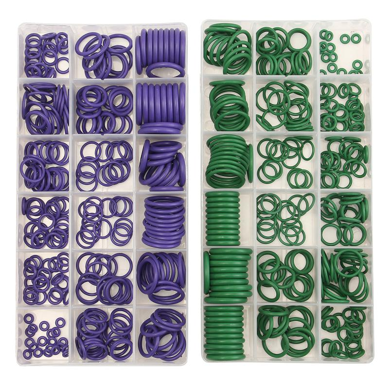 все цены на 270 PCS 18 Sizes 2 Colors Choices Car Air Conditioning O-Ring Seal Rubber Washer Assortment Set Purple/Green O Type Ring онлайн