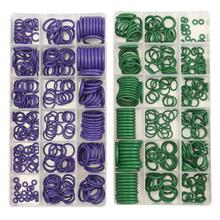 270 PCS 18 Sizes 2 Colors Choices Car Air Conditioning O-Ring Seal Rubber Washer Assortment Set Purple/Green O Type Ring