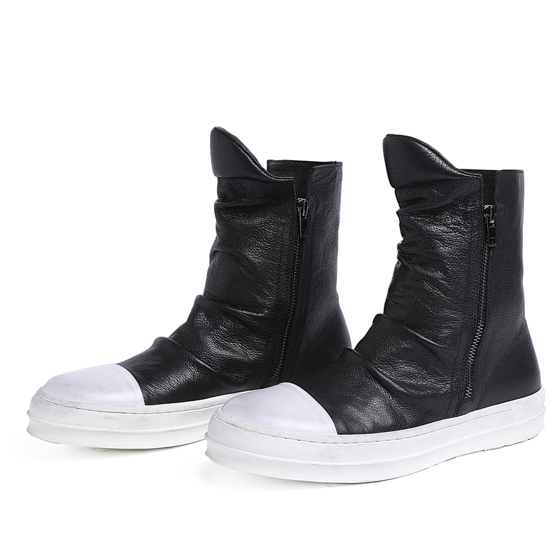 2016 Brand High Quality Trendsetter Zip Mens Ankle Boots Genuine Leather Winter Fashion Black Casual Shoes Men for Outdoor Top cool mens ankle boots with rivets casual motorcycle boots mens genuine leather shoes mens winter shoes black business boots