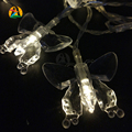 2017 Fashion Holiday Lighting Romantic Butterfly LED String Lights Battery Valentine Wedding Decoration Lightings Casamento