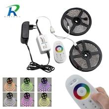 SMD5050 RGBW RGB LED רצועת אור 5m 10m גמיש קלטת דיודה סרט עמיד למים IR RF בקר AC 110V 220V DC 12V כוח סט