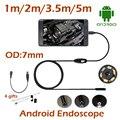 5 M 3.5 M 2 M 1 M Android USB Endoscópio Camera 7 MM Len Android OTG USB Serpente Cachimbo Endoscópio Flexível À Prova D' Água Câmera 6 pcs DIODO EMISSOR de luz