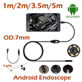 5M 3.5M 2M 1M Android USB Endoscope Camera 7MM Len Android OTG USB Waterproof Flexible Snake Pipe Borescope Camera  6pcs LED